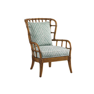 Tommy Bahama Upholstery Brown and Green Sunset Cove Chair