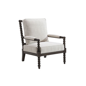 Tommy Bahama Upholstery Brown and White Maarten Chair