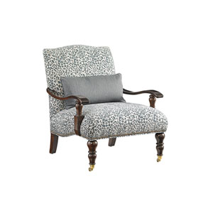 Tommy Bahama Upholstery Brown, White and Blue San Carlos Chair