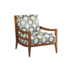 Island Fusion Brown and Ivory Singapore Chair
