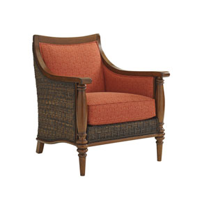 Bali Hai Brown and Orange Agave Chair