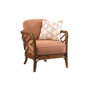 Island Estate Brown and Orange Palm Chair