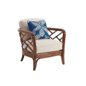 Island Estate Brown and Ivory Palm Chair