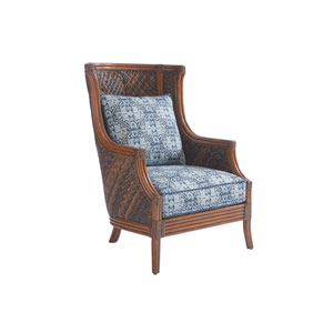 Bali Hai Brown and Blue Rum Beach Chair