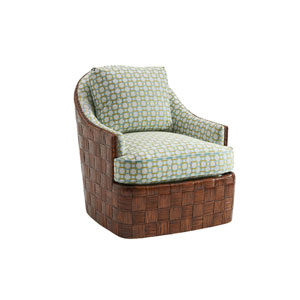 Island Fusion Brown and Green Nagano Swivel Chair