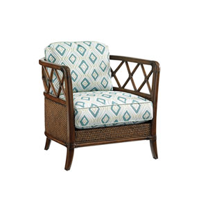 Bali Hai Brown and Aqua Glen Isle Chair