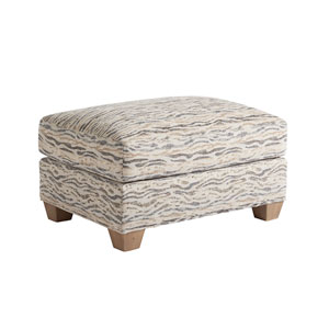 Los Altos Gold and Beige Barton Ottoman