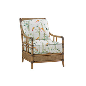 Twin Palms Brown and White Seagate Chair