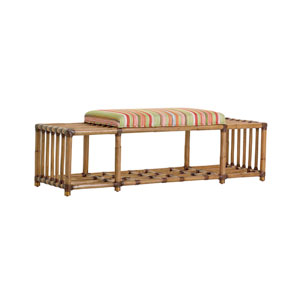 Twin Palms Brown and Multicolor Seafarer Bench