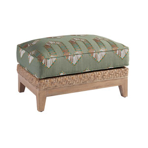 Los Altos Brown and Green Danville Ottoman