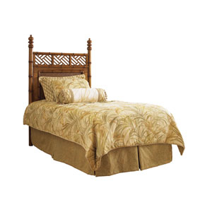 Island Estate Brown West Indies Twin Headboard