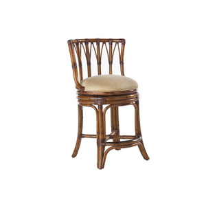 Island Estate Brown South Beach Swivel Counter Stool