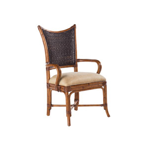 Island Estate Brown and Black Mangrove Arm Chair