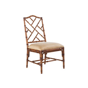 Island Estate Brown and Ivory Ceylon Side Chair