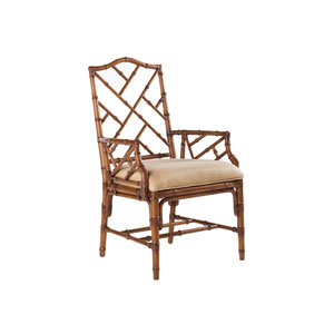 Island Estate Brown and Ivory Ceylon Arm Chair