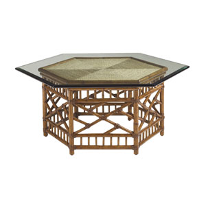 Island Estate Brown Key Largo Cocktail Table With Glass Top