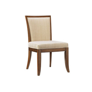 Ocean Club Brown and Ivory Kowloon Side Chair