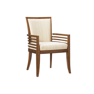 Ocean Club Brown and Ivory Kowloon Arm Chair