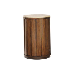 Ocean Club Brown Fiji Drum Table With Stone Top