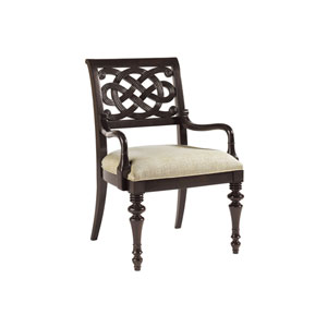 Royal Kahala Mahogany and Ivory Molokai Arm Chair