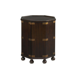 Royal Kahala Mahogany Pacific Campaign Accent Table