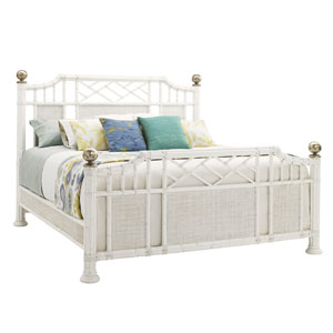 Ivory Key White Pritchards Bay King Panel Headboard