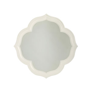 Ivory Key White Paget Mirror