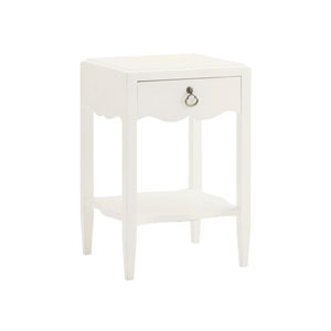 Ivory Key White Water Street Bedside Table
