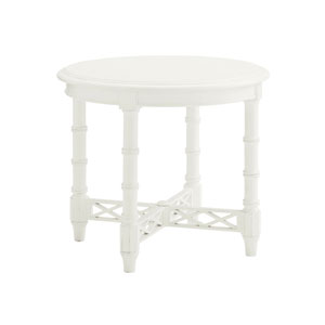 Ivory Key White Edgehill Round Lamp Table