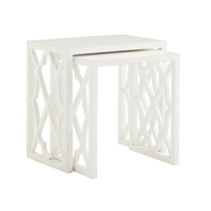 Ivory Key White Stovell Ferry Nesting Tables