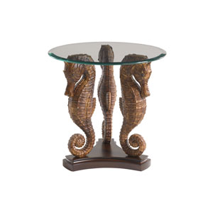 Royal Kahala Cherry Sea Horse Lamp Table
