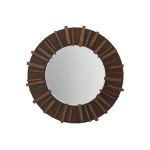 Island Fusion Brown Kobe Round Mirror