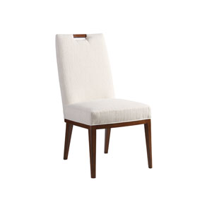 Island Fusion Brown and White Coles Bay Side Chair