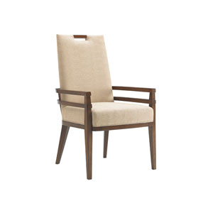 Island Fusion Brown and Beige Coles Bay Arm Chair