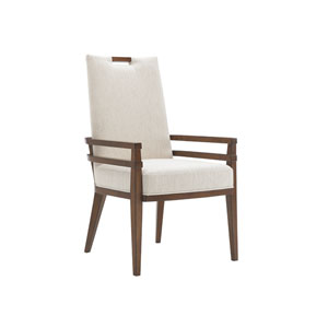 Island Fusion Brown and White Coles Bay Arm Chair