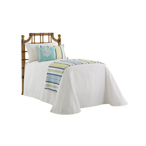 Twin Palms Brown St. Kitts Rattan Twin Headboard