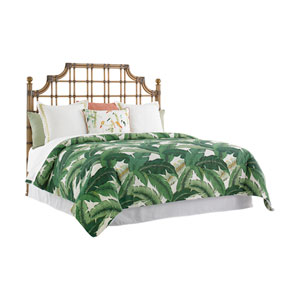 Twin Palms Brown St. Kitts Rattan King Headboard