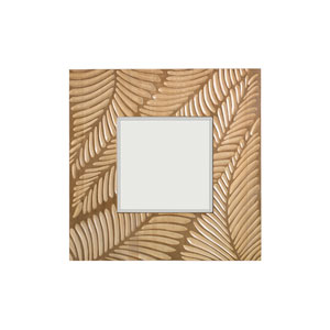 Twin Palms Brown Freeport Square Mirror