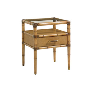 Twin Palms Brown Bayshore Night Table