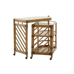 Twin Palms Brown Cable Beach Bar Cart