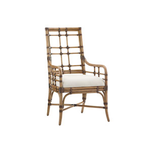 Twin Palms Brown and White Seaview Arm Chair