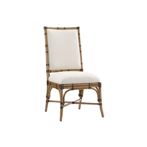 Twin Palms Brown and White Summer Isle Upholstered Side Chair