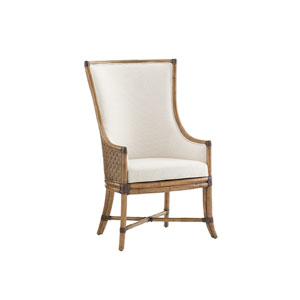 Twin Palms Brown and White Balfour Host Chair