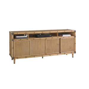 Twin Palms Brown Sea Crest Media Console