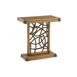 Twin Palms Brown Angler Accent Table