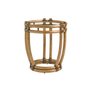 Twin Palms Brown Turtle Beach End Table