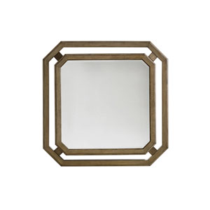 Cypress Point Antique Brass Callan Square Mirror
