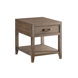 Cypress Point Brown Pearce End Table