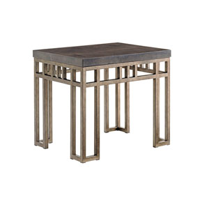 Cypress Point Brown Montera Travertine End Table