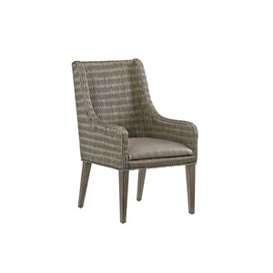 Cypress Point Smoke Gray and Brown Brandon Woven Arm Chair